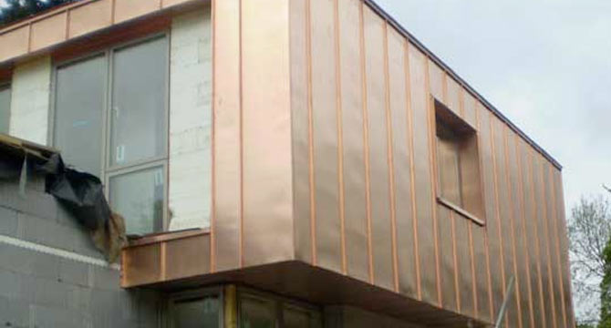 Copper Cladding Services from RAC Specialist